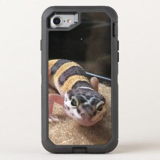 Capa Para iPhone 8/7 OtterBox Defender Geco bonito do leopardo