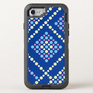 Capa Para iPhone 8/7 OtterBox Defender Grade azul do pop dos doces coloridos das bolinhas