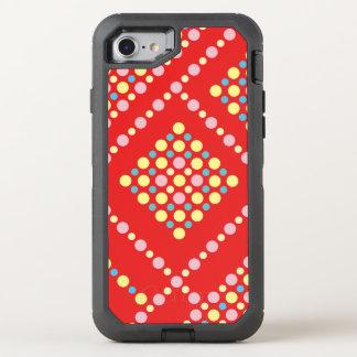 Capa Para iPhone 8/7 OtterBox Defender Grade colorida do pop dos doces das bolinhas