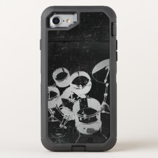 Capa Para iPhone 8/7 OtterBox Defender Grupo do cilindro para bateristas/estilo legal do