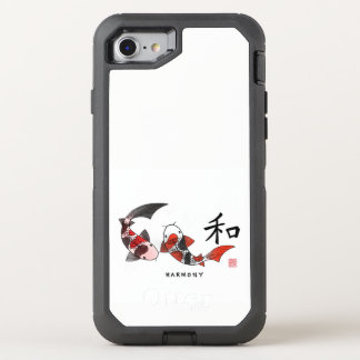 Capa Para iPhone 8/7 OtterBox Defender Harmonia - peixe de Koi