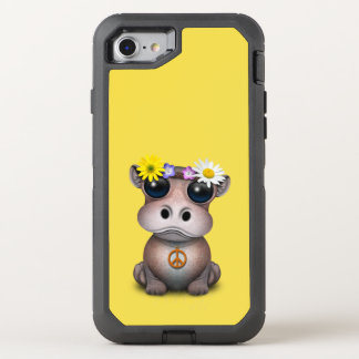 Capa Para iPhone 8/7 OtterBox Defender Hippie bonito do hipopótamo do bebê