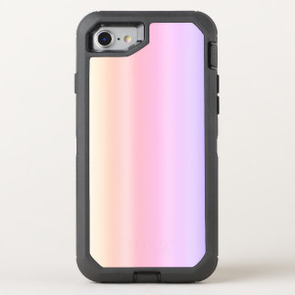 Capa Para iPhone 8/7 OtterBox Defender Inclinação Kawaii de Ombre do Taffy do rosa Pastel