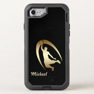 Capa Para iPhone 8/7 OtterBox Defender Jogador de basquetebol do ouro