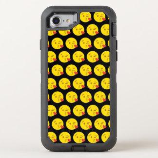 Capa Para iPhone 8/7 OtterBox Defender Kissy enfrenta o iPhone de Emoji 8/7 de caso de