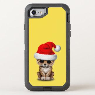 Capa Para iPhone 8/7 OtterBox Defender Leopardo bonito Cub que veste um chapéu do papai
