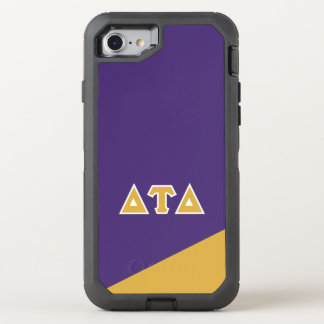 Capa Para iPhone 8/7 OtterBox Defender Letras do grego do delta | da tau do delta