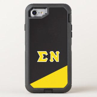 Capa Para iPhone 8/7 OtterBox Defender Letras do grego do NU | do Sigma