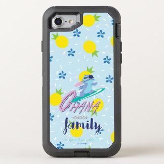 Capa Para iPhone 8/7 OtterBox Defender Lilo & família dos meios de Stich | Ohana