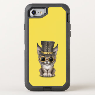 Capa Para iPhone 8/7 OtterBox Defender Lince bonito Cub do bebê de Steampunk