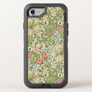 Capa Para iPhone 8/7 OtterBox Defender Lírio dourado de William Morris floral