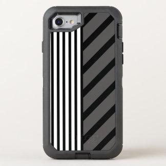 Capa Para iPhone 8/7 OtterBox Defender Listra cinzenta preta