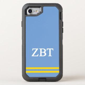 Capa Para iPhone 8/7 OtterBox Defender Listra do esporte da tau | do Zeta beta