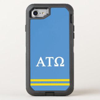 Capa Para iPhone 8/7 OtterBox Defender Listra do esporte da tau Omega | do alfa