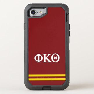 Capa Para iPhone 8/7 OtterBox Defender Listra do esporte da teta | do Kappa da phi