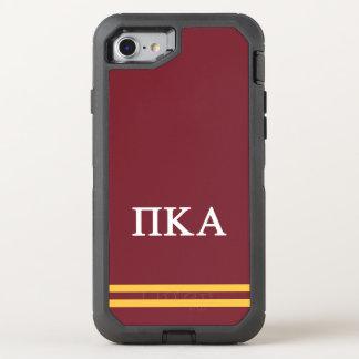 Capa Para iPhone 8/7 OtterBox Defender Listra do esporte do alfa | do Kappa do Pi