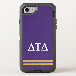 Capa Para iPhone 8/7 OtterBox Defender Listra do esporte do delta | da tau do delta