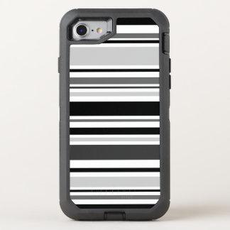 Capa Para iPhone 8/7 OtterBox Defender Listras pretas, cinzentas, brancas distintivas