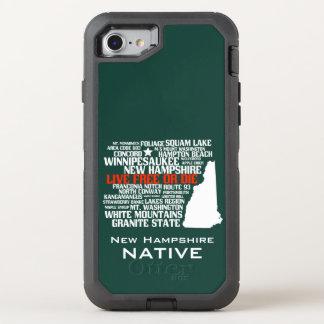 Capa Para iPhone 8/7 OtterBox Defender Livres vivos do nativo de New Hampshire ou morrem