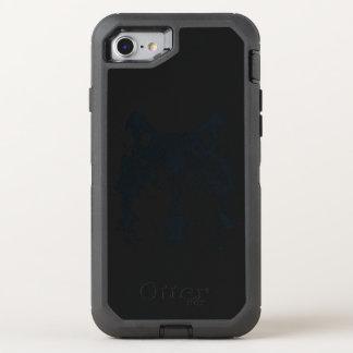 Capa Para iPhone 8/7 OtterBox Defender Lobo preto da ilustração