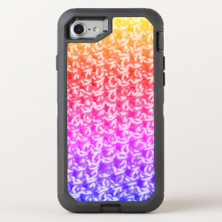 Capa Para iPhone 8/7 OtterBox Defender Malha colorida do Crochet de Ombre