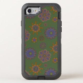 Capa Para iPhone 8/7 OtterBox Defender Malva & flores do ouro