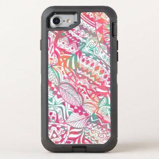 Capa Para iPhone 8/7 OtterBox Defender mão feminino teste padrão floral tribal