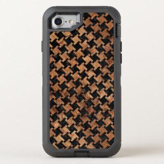CAPA PARA iPhone 8/7 OtterBox DEFENDER MÁRMORE HOUNDSTOOTH2 PRETO & PEDRA MARROM