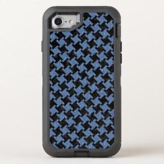 CAPA PARA iPhone 8/7 OtterBox DEFENDER MÁRMORE HOUNDSTOOTH2 PRETO & SARJA DE NIMES AZUL