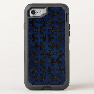 CAPA PARA iPhone 8/7 OtterBox DEFENDER MÁRMORE PUZZLE1 PRETO & GRUNGE AZUL