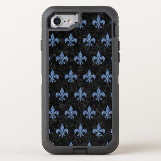 CAPA PARA iPhone 8/7 OtterBox DEFENDER MÁRMORE ROYAL1 PRETO & SARJA DE NIMES AZUL (R)