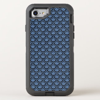 CAPA PARA iPhone 8/7 OtterBox DEFENDER MÁRMORE SCALES2 PRETO & SARJA DE NIMES AZUL (R)