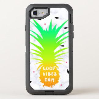Capa Para iPhone 8/7 OtterBox Defender mármore tropical do branco do abacaxi do verão