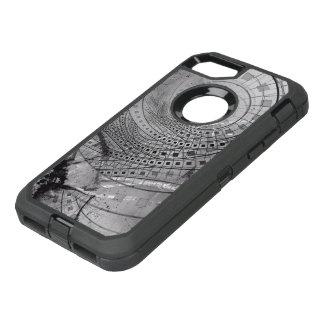 Capa Para iPhone 8/7 OtterBox Defender Memórias fragmentadas do Fractal e vidro quebrado