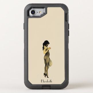 Capa Para iPhone 8/7 OtterBox Defender Menina retro do vintage bonito com Apple