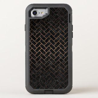 CAPA PARA iPhone 8/7 OtterBox DEFENDER METAL PRETO DO MÁRMORE BRICK2 & DO BRONZE