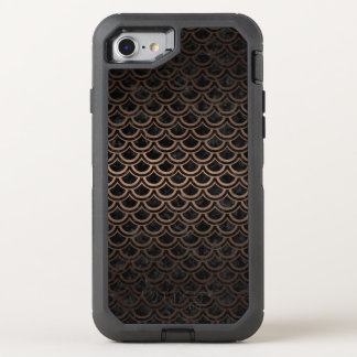 CAPA PARA iPhone 8/7 OtterBox DEFENDER METAL PRETO DO MÁRMORE SCALES2 & DO BRONZE