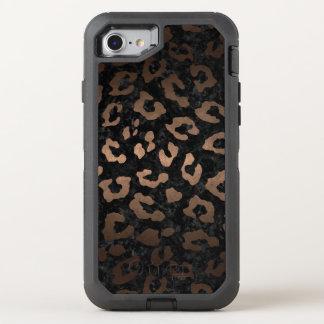 CAPA PARA iPhone 8/7 OtterBox DEFENDER METAL PRETO DO MÁRMORE SKIN5 & DO BRONZE (R)