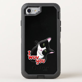 Capa Para iPhone 8/7 OtterBox Defender Mim wuv você gato