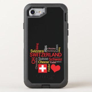 Capa Para iPhone 8/7 OtterBox Defender Minhas coisas suíças favoritas engraçadas