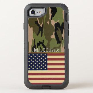 Capa Para iPhone 8/7 OtterBox Defender Modelo conhecido de Camo da bandeira dos EUA