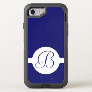 Capa Para iPhone 8/7 OtterBox Defender Monograma azul corajoso do círculo