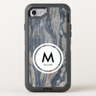 Capa Para iPhone 8/7 OtterBox Defender Monograma da rocha da pedra calcária de Boudinaged