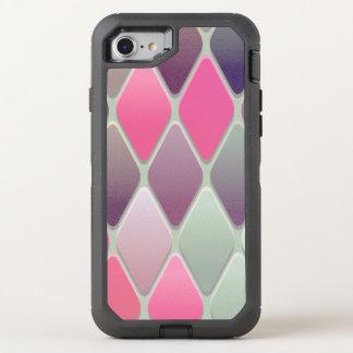 Capa Para iPhone 8/7 OtterBox Defender Mosaico cor-de-rosa do diamante