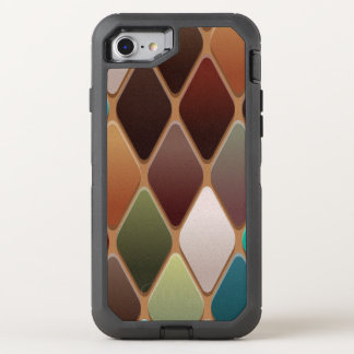 Capa Para iPhone 8/7 OtterBox Defender Mosaico do diamante da cerceta