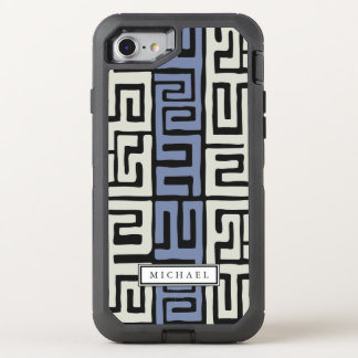 Capa Para iPhone 8/7 OtterBox Defender Nome legal inspirado pano do costume das cores de