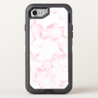 Capa Para iPhone 8/7 OtterBox Defender o falso moderno elegante do rosa pastel e do