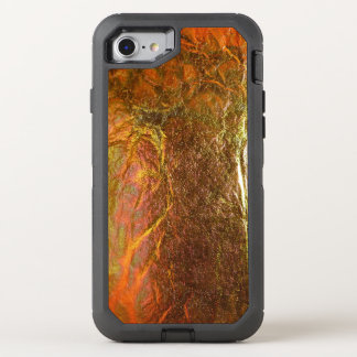 Capa Para iPhone 8/7 OtterBox Defender O ouro e o bronze chapearam a textura com um patte
