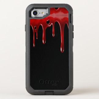 Capa Para iPhone 8/7 OtterBox Defender O sangue de Falln goteja o preto