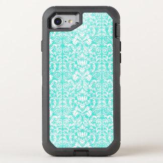 Capa Para iPhone 8/7 OtterBox Defender O teste padrão envelhecido do impressão do verde